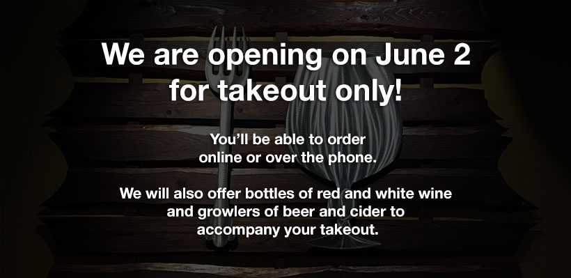 Takeout available starting June 2