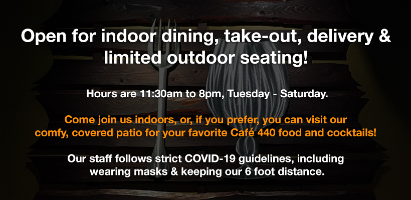 Open for indoor dining, take-out, delivery & outdoor seating!
